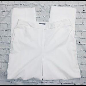 Jones NY White Stretch High Rise Lined Pants Sz 12